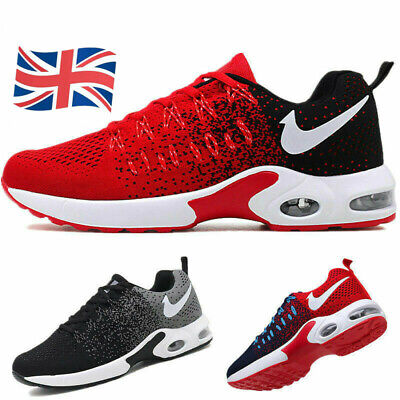 Hot Unisex Air Bottom Sports Shoes Outdoor Casual Sneakers Athletic Trainers UK