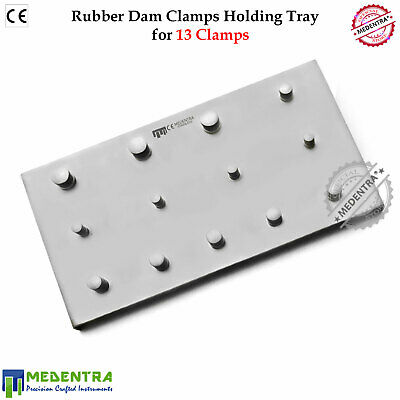Rubber Dam 13 Dental Clamps Holding Stainless Steel Tray Plate Diques De Goma CE