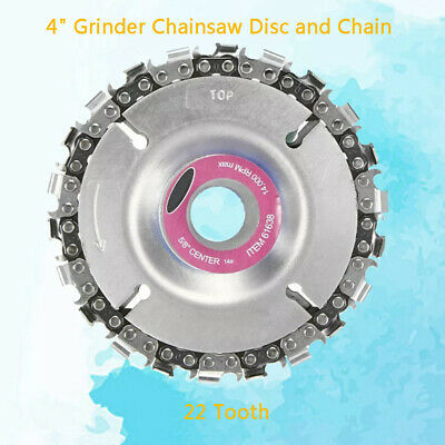"""4"""" Angle Grinder Chainsaw Disc Chain 22 Tooth Fine Saw Chain Carving Culpting"""