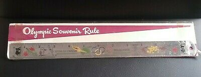 Vintage 1956 XVI Olympiad Melbourne Olympic Games Souvenir Rule Ruler by Britex