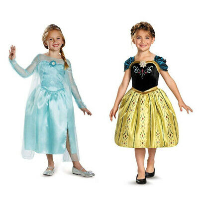 Girl Dress Princess Queen Elsa Anna Party Birthday Costume size 2-6 Years