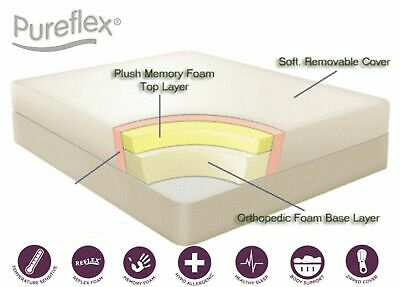 "Luxury New 6"" Memory Foam Reflex Mattress 5+1 - 3FT, 4FT, 4FT6, 5FT"