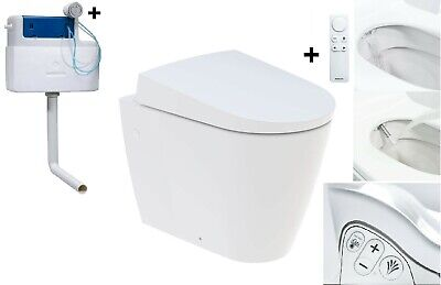 Pleasing Valeria Btw All In One Combined Bidet Toilet With Soft Close Ibusinesslaw Wood Chair Design Ideas Ibusinesslaworg