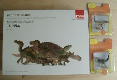 PNSO 6 Little Dinosaurs models /& story book in English and Chinese box gift set