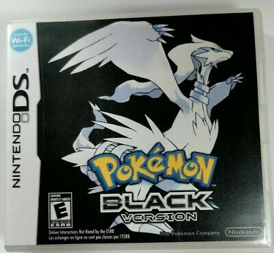 Nintendo Ds Replacement box - Case + Shimmer cover - inlay Pokémon Black