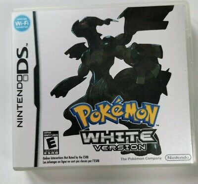 Nintendo Ds Replacement box - Case + Shimmer cover - inlay Pokémon White