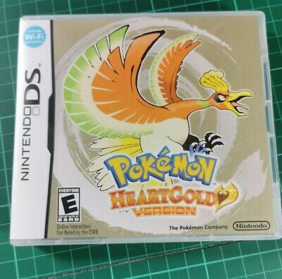 Nintendo DS replacement box - case with Cover inlay Pokemon Heart Gold Shimmer