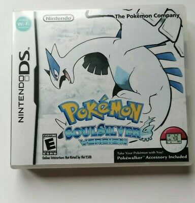 Nintendo Ds Replacement box - Case + Shimmer cover - inlay Pokémon Soul Silver