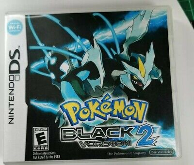 Nintendo Ds Replacement box - Case + Shimmer cover - inlay Pokémon Black 2