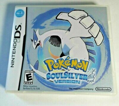 Nintendo DS replacement box - case with Cover inlay Pokemon Soul Silver Shimmer