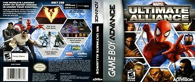 Nintendo Game Boy Advance GBA Replacement Case Marvel Ultimate Alliance
