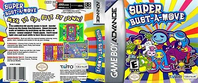 Nintendo Game Boy Advance GBA Replacement Case Super Bust a Move