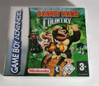 Nintendo Game Boy Advance GBA Replacement Case Donkey Kong Country