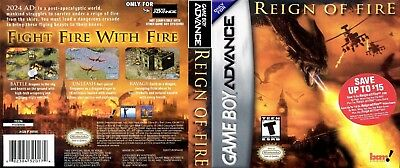Nintendo Game Boy Advance GBA Replacement Case Reign of Fire