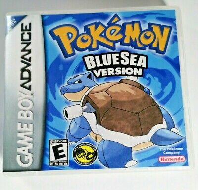 Nintendo GBA Replacement box - Case + Shimmer cover inlay Pokémon Blue Sea