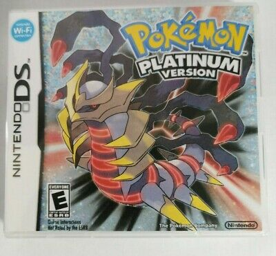 Nintendo DS replacement box - case with Cover inlay Pokemon Platinum Shimmer