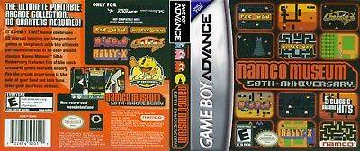 Nintendo Game Boy Advance GBA Replacement Case Namco Museum 50th Anniversary