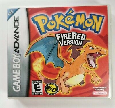 Nintendo GBA Replacement box - Case + Shimmer cover - inlay Pokémon FireRed