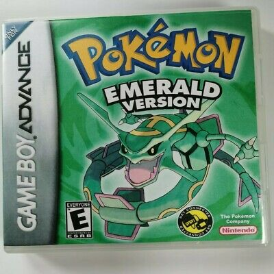 Nintendo GBA Replacement box - Case + Shimmer cover - inlay Pokémon Emerald