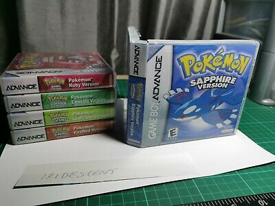 Nintendo Gba Pokemon replacement game box  case and cover inlay