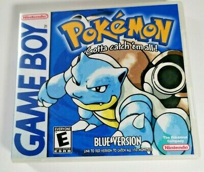 Nintendo Game Boy Replacement Case box with Shimmer inlay Pokémon Blue