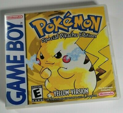 Nintendo Game Boy Replacement box - Case  Shimmer cover inlay - Pokémon Yellow