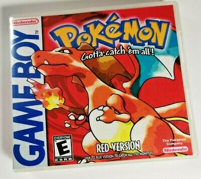 Nintendo Game Boy Replacement box - Case with Shimmer cover inlay Pokémon Red