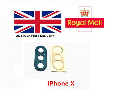 iPhone X XS XR XS Max Replacement Rear Back Camera Glass Lens With Adhesive UK