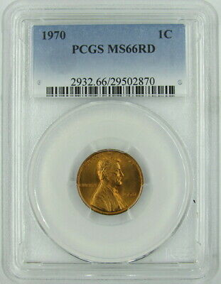 1970 Lincoln Cent Pcgs Ms66Rd