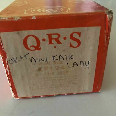 QRS Word Roll Player Piano Roll XP-124 My Fair Lady Medley