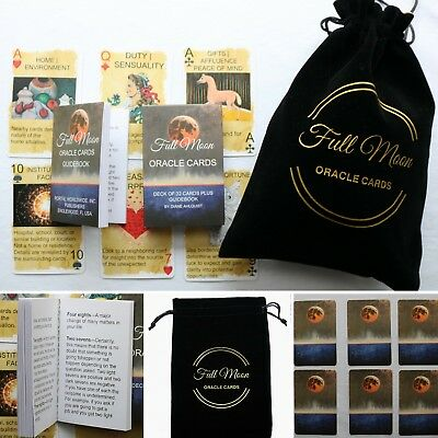 Full Moon Oracle Cards and Pouch by author of Moon Spells Diane Ahlquist