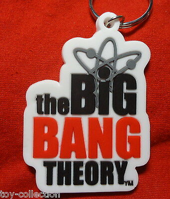 The Big Bang Theory Logo - Gummi Schlüsselanhänger / rubber keychain