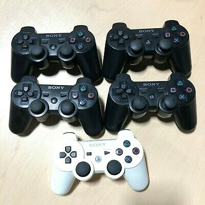 Lot of 5 OEM Sony PlayStation PS3 Dualshock 3 Controllers For Parts or Repair