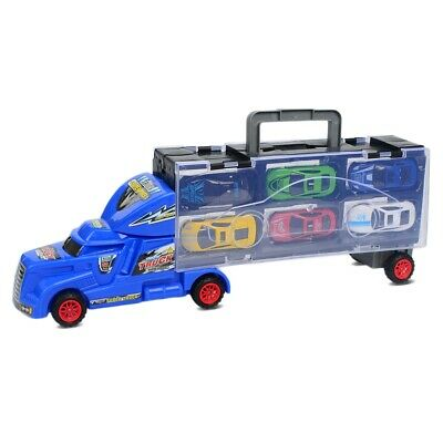 Portable Large Container Truck Kids Alloy Trailer with 6 Cars