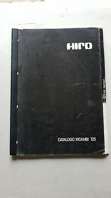 Hiro motore 125 RA 1980 catalogo ricambi originale engine spare parts catalogue