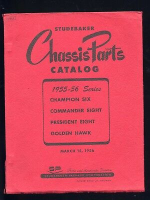 Studebaker Champion Commander catalogo ricambi 1955-56 chassis parts catalogue