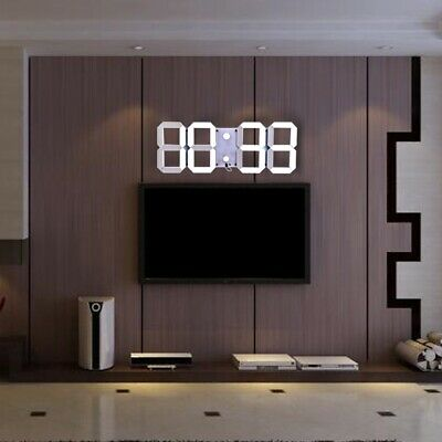 Remote Control Big LED Digital Wall Clock Stopwatch Thermometer Countdown