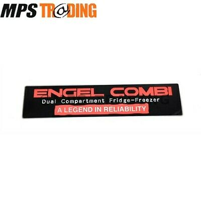 ENGEL COMBI PORTABLE FRIDGE/FREEZER DECAL STICKER BLACK/RED/SILVER 350MM x 80MM