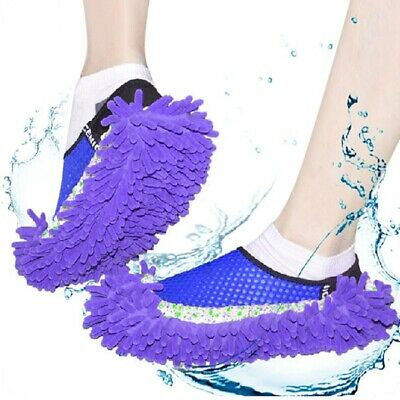 Practical Chenille Mop Slippers Dust Floor Cleaning Mopping Foot Shoes Home