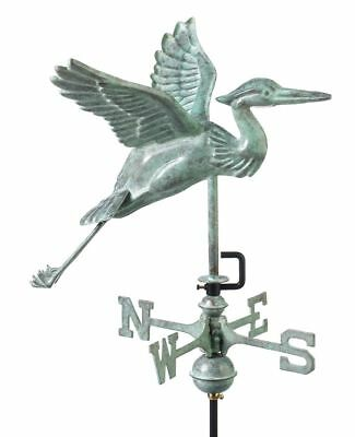 Blue Heron Copper Verdigris Weathervane