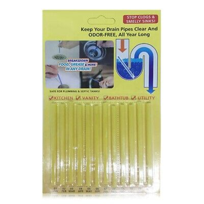 Drain Cleaner Sticks Deodorizer Order Free Sewer Detergent for Toilet Kitchen