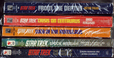 Star Trek Novels Lot of 5 softcover books (Lot 2) VG