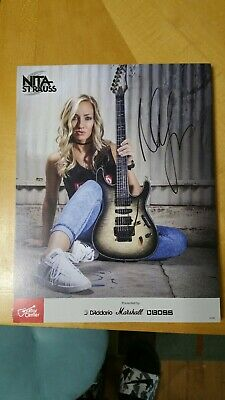 Nita Strauss Autograph alice cooper iron maidens authentic