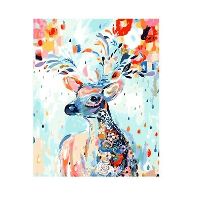 Color Deer DIY Digital Oil Hand Painting Wall Decor