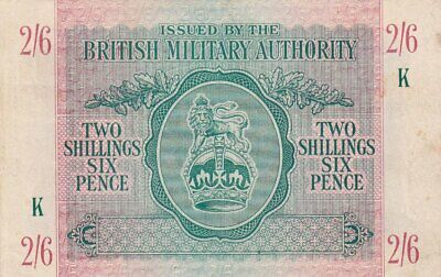 #British Military Authority 2 Shillings 6 Pence 1943 M-3 VF Troops in N Africa