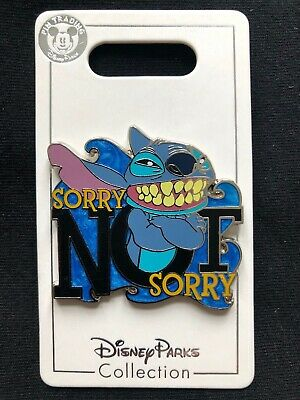 Disney Parks Pin Trading Stitch Sorry Not Sorry