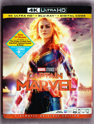 Captain Marvel 4K Blu-ray Digital Slipcover Brand NEW FREE~First Class Shipping!