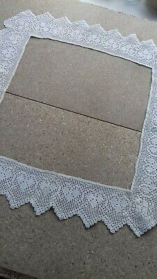 Vintage Handmade Cotton Lace Border for tray cloth. Off White. Unused