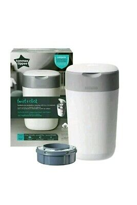Tommee Tippee Twist and Click Sangenic  Nappy Disposal Bin System, White+1Refill