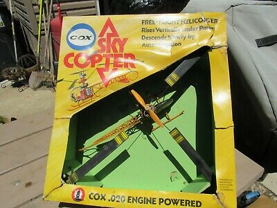 VINTAGE COX  020 SKY COPTER Helicopter In Shipping Box NICE